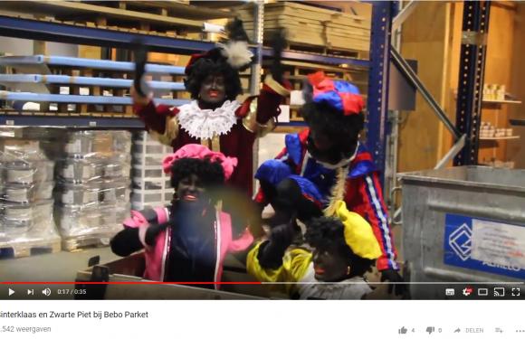 Bebo Parket reclame boordevol Zwarte Pieten!