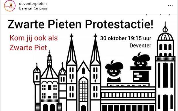 Actie Zwarte Pieten in Deventer succes: burgemeester draait