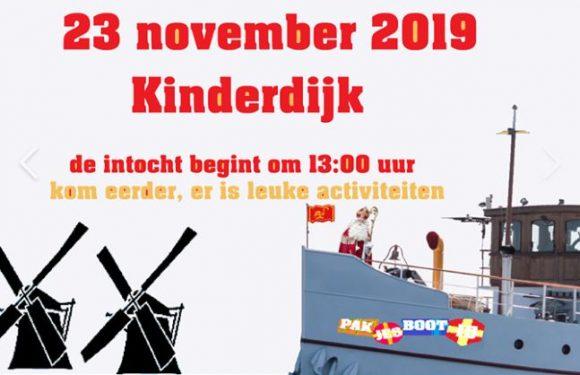 Wapperintocht Sinterklaas in Kinderdijk