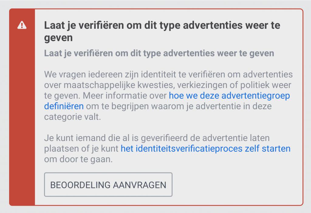 Blokkade Facebook op advertentie met Zwarte Piet erin