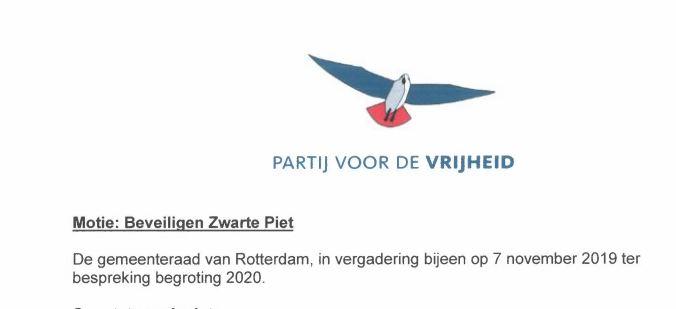 Geen beveiliging voor Zwarte Piet in Rotterdam