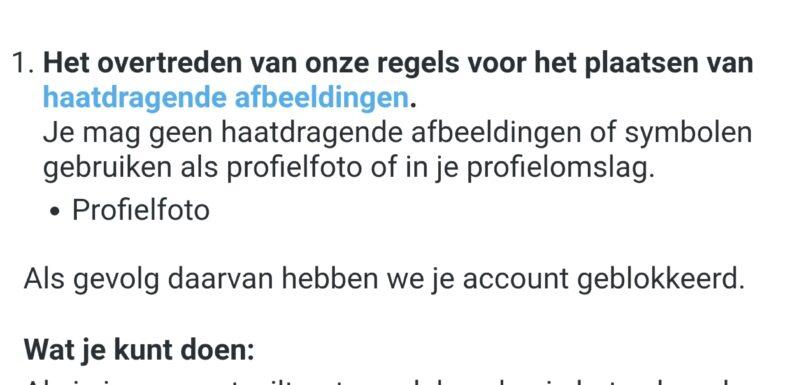 Twitter verbiedt profielfoto's met Zwarte Piet